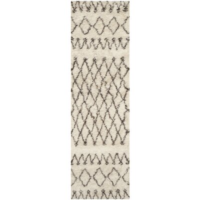 Gholston Tan/Brown Area Rug Rug Size: Runner 23 x 12