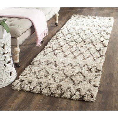 Gholston Tan/Brown Area Rug Rug Size: Runner 23 x 10