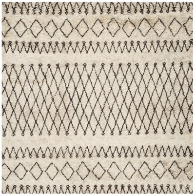 Gholston Tan/Brown Area Rug Rug Size: Square 6