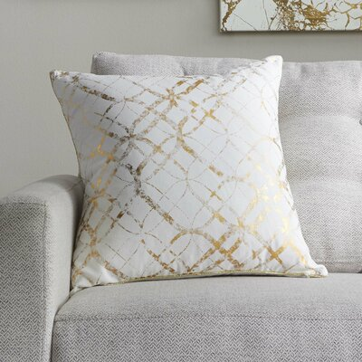 Beshears 100% Cotton Throw Pillow Color: Gold