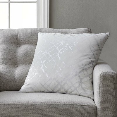 Beshears 100% Cotton Throw Pillow Color: Silver