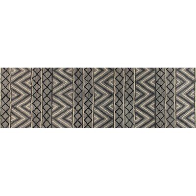 Albany Wool Grey/Ivory Area Rug Rug Size: Runner 26 x 8