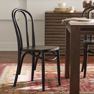 Matthew Solid Wood Dining Chair Finish: Black