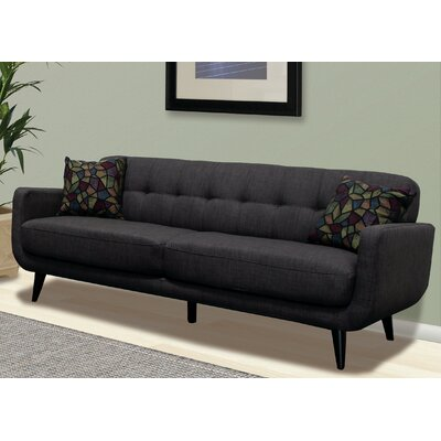 Khronos Living Room Sofa Upholstery: Charcoal