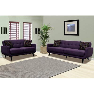Calla Sofa and Loveseat Set Upholstery: Twilight Lavender