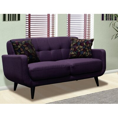 Despina Living Room Loveseat Upholstery: Twilight Lavender