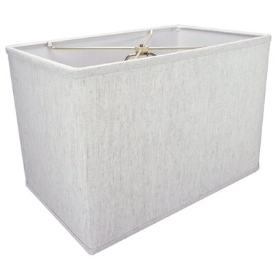 16 Fabric Rectangular Lamp Shade Color: Oatmeal