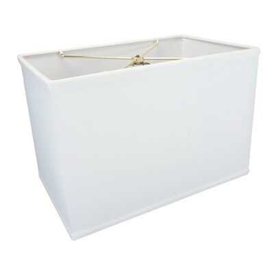 16 Fabric Rectangular Lamp Shade Color: White