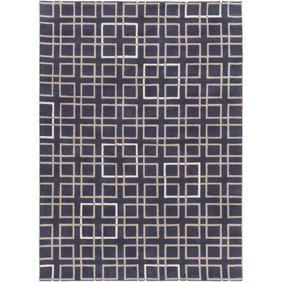 Deanna Navy/Taupe Geometric Area Rug Rug Size: Rectangle 8 x 11
