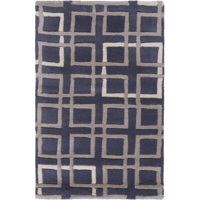 Deanna Navy/Taupe Geometric Area Rug Rug Size: Rectangle 33 x 53