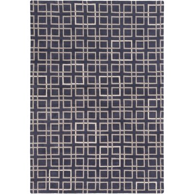 Bushway Navy/Taupe Geometric Area Rug Rug Size: 9 x 13