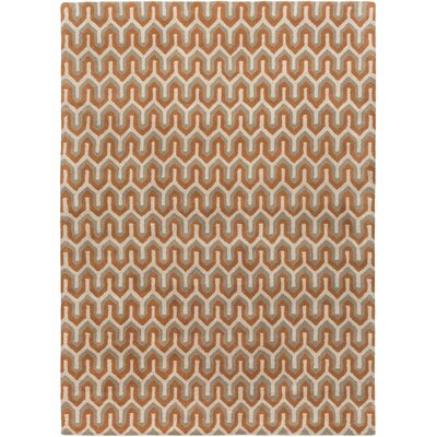 Romola Rust Geometric Area Rug Rug Size: Rectangle 5 x 8