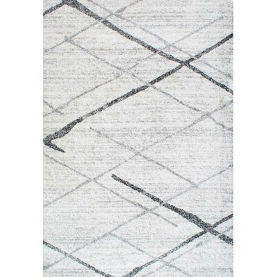 Azha Broken Light Gray Area Rug Rug Size: 3 x 5