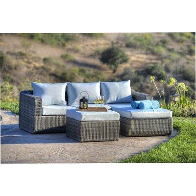 Amezcua 3 Piece Deep Seating Group with Cushion Finish: Mix Grey