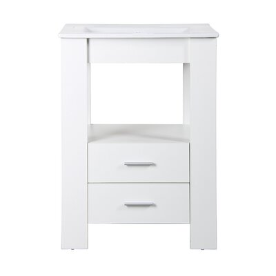 Callaway 24 Single Bathroom Vanity Set Base Finish: White
