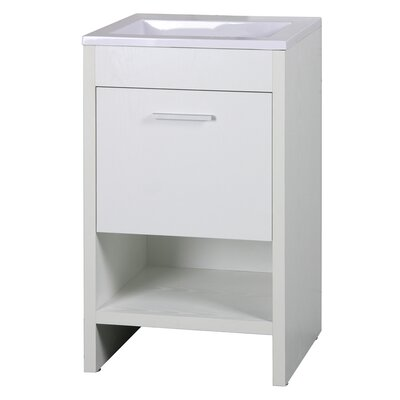 Callaway 20 Single Bathroom Vanity Set Base Finish: White