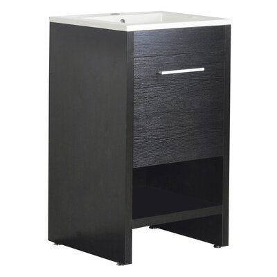 Callaway 20 Single Bathroom Vanity Set Base Finish: Black