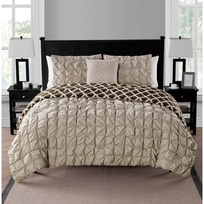 Sherrodsville Reversible Comforter Set Color: Taupe, Size: Twin/Twin XL