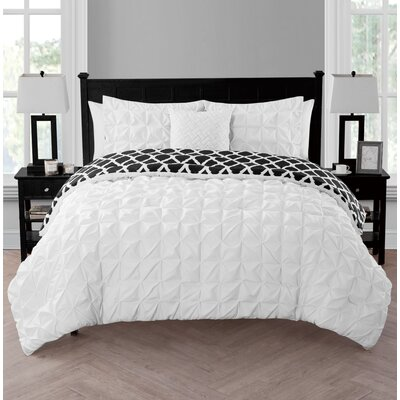 Sherrodsville Reversible Comforter Set Color: White, Size: King