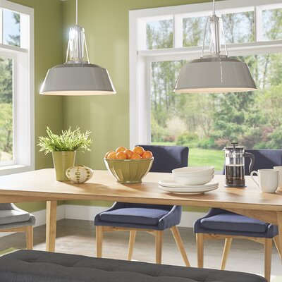 Sarah 1-Light Bowl Shade Mini Pendant Finish: Hi Gloss Grey