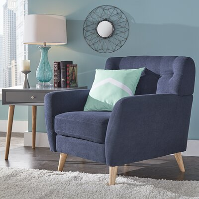 Blakeman Armchair Upholstery: Twilight Blue