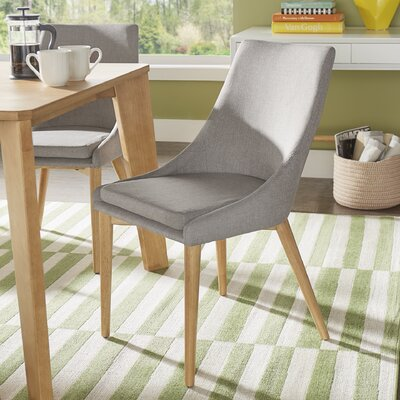 Blaisdell Side Chair Upholstery: Gray Linen