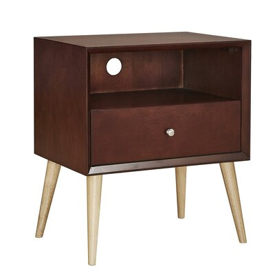 Blakeney End Table With Storage Color: Espresso