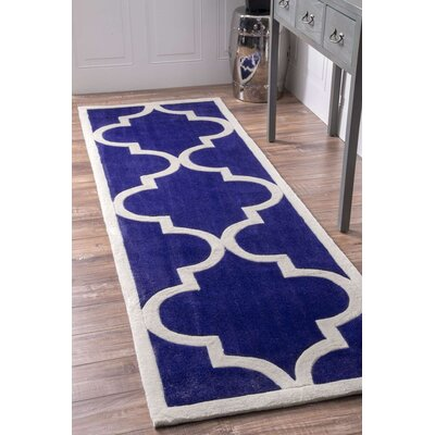 Sabatini Pacific Blue Area Rug Rug Size: Runner 26 x 8