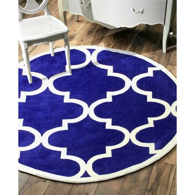 Sabatini Pacific Blue Area Rug Rug Size: Round 6