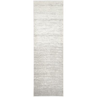 Busick Ivory/Silver Area Rug Rug Size: Runner 26 x 10
