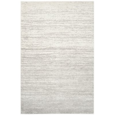 Busick Ivory/Silver Area Rug Rug Size: 10 x 14