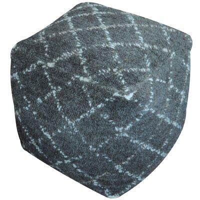 Amoroso Pouf Ottoman Upholstery: Charcoal