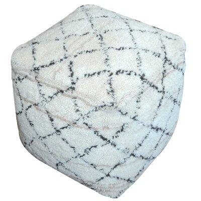Amoroso Pouf Ottoman Upholstery: Ivory