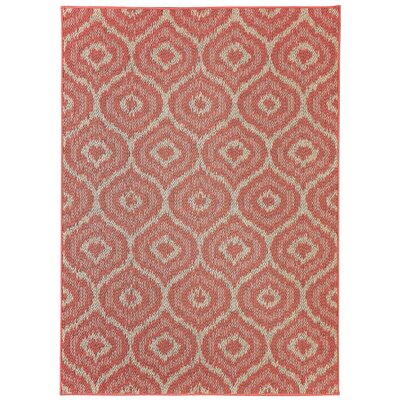 Aker Red Indoor/Outdoor Area Rug Rug Size: Rectangle 106 x 14
