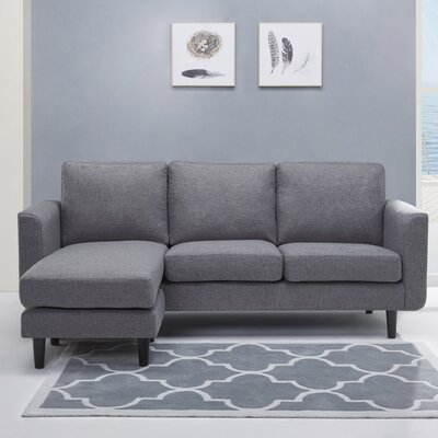 Ancheta Convertible Sofa and Ottoman Upholstery: Ash