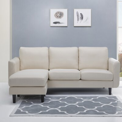 Ancheta Convertible Sofa and Ottoman Upholstery: Beige