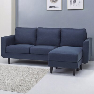 Ancheta Convertible Sofa and Ottoman Upholstery: Blue