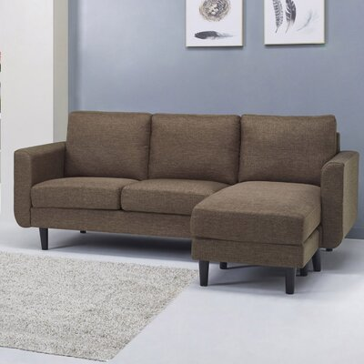 Ancheta Convertible Sofa and Ottoman Upholstery: Brown Ceramic