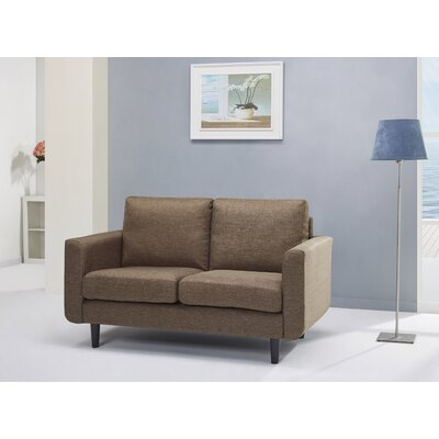 Ancheta Loveseat Upholstery: Brown Ceramic
