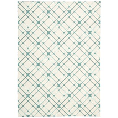 Vanderburg Ivory Geometric Area Rug Rug Size: Rectangle 4 x 6