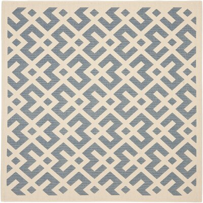 Andersen Blue/Bone Indoor/Outdoor Area Rug Rug Size: Square 4