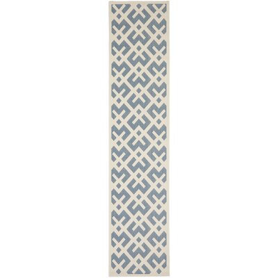 Andersen Blue/Bone Indoor/Outdoor Area Rug Rug Size: Runner 23 x 8
