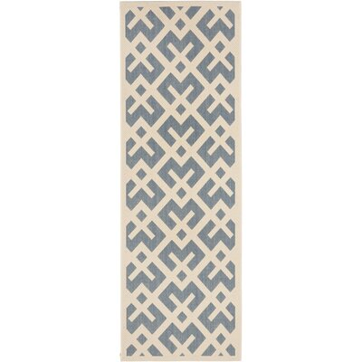 Quinlan Blue Indoor/Outdoor Area Rug Rug Size: Runner 24 x 911