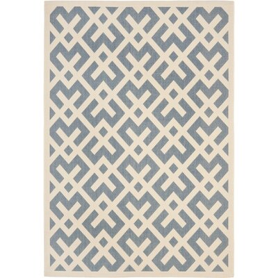 Andersen Blue Indoor/Outdoor Area Rug Rug Size: 67 x 96