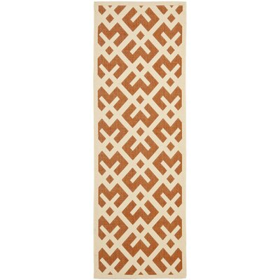 Andersen Terracotta / Bone Indoor/Outdoor Rug Rug Size: Runner 24 x 911