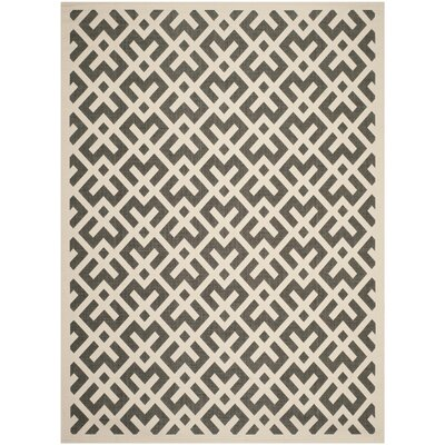 Quinlan Beige /  Black Indoor/Outdoor Rug Rug Size: Rectangle 8 x 11