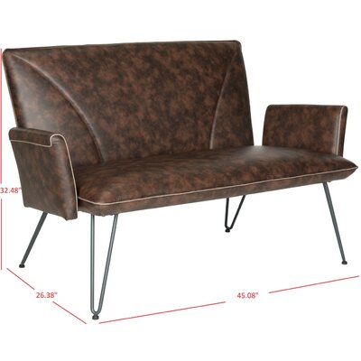 Aphrodite Settee Upholstery: Antique Brown
