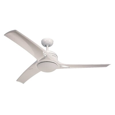 52 Beatrix 3 Blade LED Ceiling Fan with Remote Finish: White
