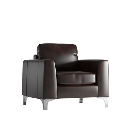 Shupe Club Chair Upholstery: Dark Brown