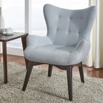 Shuman Wingback Chair Upholstery: Hazy Blue